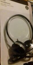 Headphones Round Headband is Black/Silver New by Signalex Sound Stylish trendy