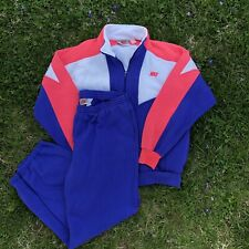 Vintage Nike Sweatsuit Track Jacket Pants Joggers Grey Tag 80s 90s Pink Purple