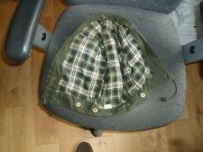 Barbour jacket green waxed cotton hood from 1988.