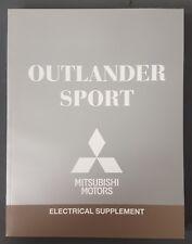 2018 MITSUBISHI OUTLANDER SPORT  ELECTRICAL SUPPLEMENT REPAIR  MANUAL FACTORY