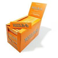 GENUINE STANDARD REGULAR ORANGE LIQUORICE RIZLA CIGARETTE ROLLING PAPER BOOKLETS