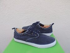 SANUK GUIDE PLUS WASHED NAVY LACE-UP URBAN WALLA BOAT SHOES, US 9/ EUR 42 ~NWT