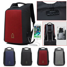 15.6 Inch Men Laptop Backpack USB Charging & Anti- theft Lock School Travel Bag