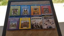 Fast & Furious Blu-Ray Lot 1-8.