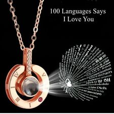 US Mothers Day Gift Wife's gift Pendant I LOVE YOU in 100 languages Necklace