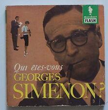 Qui êtes-vous GEORGES SIMENON ? Marabout Flash n°21 1959 Léon Thoorens BE