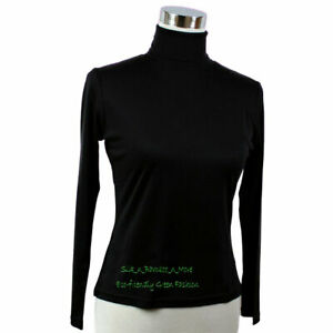 Pure Heavy Weight Silk Knit Women'S Turtle Neck Top donna dolcevita