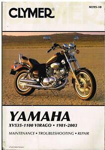 YAMAHA VIRAGO XV535 XV700 XV750 XV920 XV1000 XV1100 (1981-2003) REPAIR HANDBOOK