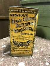 Antique 1916 ~ NEWTON'S ~ **HORSE REMEDY** Veterinary Medicine Tin