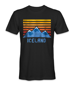 Iceland mountains country t-shirt