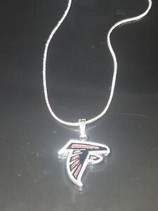 Atlanta Falcons Logo Necklace Pendant Sterling Silver Chain NFL Football