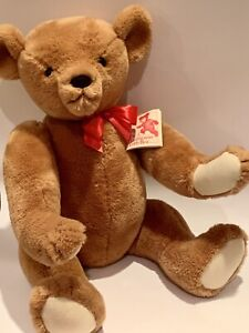 """Smithsonian Institution Classic Ideal Teddy Bear w tag Jointed 24"""" 1987"""