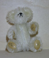"WEE GEM Miniature 3"" Teddy Bear ""Cameo"" Chu Ming Wu 1995 Vintage"