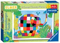 05116 Ravensburger Elmer the Elephant My First Floor Jigsaw Puzzle 16pc Age 24m+