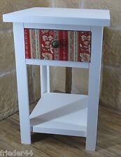 Beistelltisch weiß bunt rot Shappy Vintage Nachttisch Kommode Blumensäule 710401