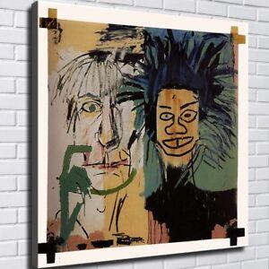 "24x24 inches Jean-Michel Basquiat ""Dos Cabezas"" HD canvas print huge picture"