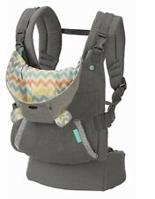 Infantino Cuddle Up Ergonomic Koala Hoodie Baby Carrier, Grey Open Box