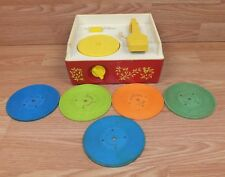 **FOR PARTS** Genuine Vintage Fisher Price Music Box / Record Player & Records