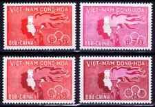 1961  VIETNAM DU SUD    Y & T   N° 165 à 168  Neufs *  AVEC CHARNIÈRE