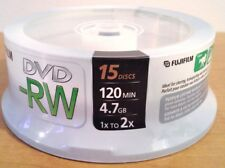 Fujifilm 15 Disc DVD RW Pack - 120 min. 4.7GB - New/Sealed 1X-2X Speed