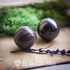 Shungite and Raspberry quartzite harmonizer Spheres Balls 35mm, EMF Protection
