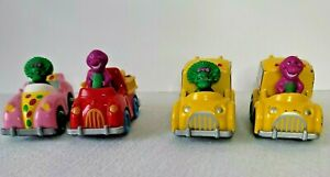 Vintage Barney & Baby Bop Die Cast Toy Cars Vehicles 1993 The Lyons Group