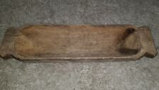 "20""PRIMITIVE ANTIQUE WOOD CARVED TRENCH DOUGH BOWL 52cm"