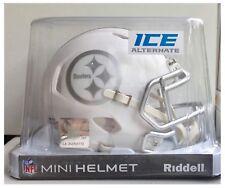 "Pittsburgh Steelers NFL American Football Riddell White Ice 6"" Mini Speed Helmet"