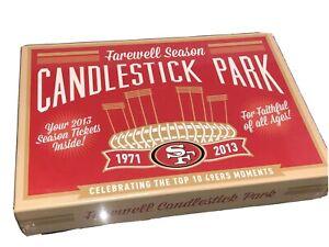 Farewell Candlestick Park San Francisco 49ers SEALED Season Tickets Memorabilia