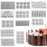 DIY Silicone Chocolate Fondant Thin Sheet Cakes Decor Sugar Craft Baking Mould
