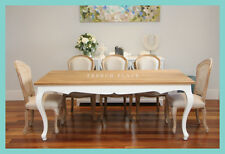 **EOFY SALE!** NEW French Provincial Hamptons Style Solid Oak Top Dining Table