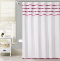 Seasons Greetings 13 Piece Waffle Fabric shower curtain Merry Christmas