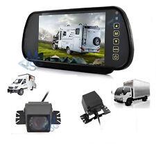 """Kit Retromarcia Specchietto 7"""" LCD e Telecamera Posteriore LED HD Auto Furgone"""
