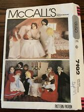 McCall's 7192 Family of Dolls and Clothes Baby Grandparents Mom Dad Boy Girl Toy