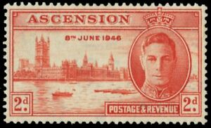 """ASCENSION 50 (SG48) - King George VI """"Peace-Victory"""" (pa95243)"""