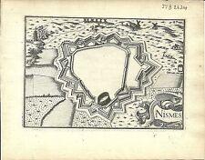 Antique map, Nismes (Nimes)