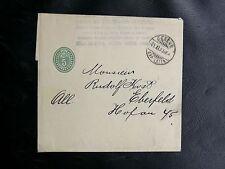 TIMBRES DE SUISSE : ENTIER POSTAL 5 RAPPEN BANDE POUR JOURNAUX Obli. GENEVE 1903