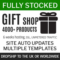 Dropship Giftshop UK + World   1500+ products eCommerce Store Website 6w service