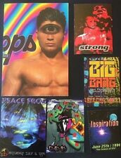 Vintage RAVE Flyers STRONG, CYCLOPS, INSPIRATION, PEACE FROG (LOT 406)