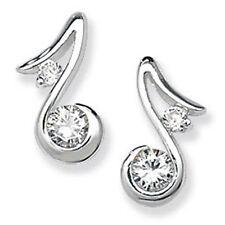 Sterling Silver Fancy Clear CZ Drop Earrings,SE298B