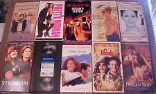Lot of 10 JULIA ROBERTS VHS Tapes - Steel Magnolias  Stepmom  Notting Hill +