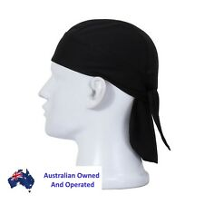 Cycling Outdoor Sports Headscarf Pirate Bandanna Hat Durag Cap Black AU seller