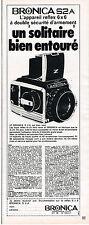 PUBLICITE ADVERTISING 035  1971  BRONICA  S 2 A  appareil photo reflex 6x6