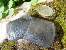 Paire de binocle lunette pliable métal dans étui cuir XIXe