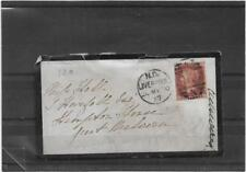 GB 1870 PENNY RED MOURNING COVER DUPLEX LIVERPOOL TO MALVERN WITH CONTENTS