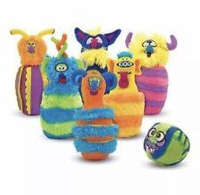 Monster Wacky Bowling Set 6 Furry Funky Pins Beast Ball Preschool Kids