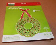 Christmas Craft Foam Activity Kit Creatology 158pc Hanging Pony Beads Wreath 93B