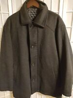 Nautica Men'sSolid Black Wool/Cashmere Blend Overcoat Dress Coat Sz 42S #7