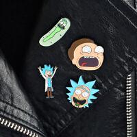 4PCS/SET Pins and brooches Rick and Morty Enamel pins Lapel pins Pin set Brooche