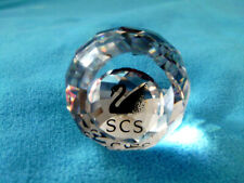 Swarovski crystal ball paperweight w/swan logo collector's gift 1992